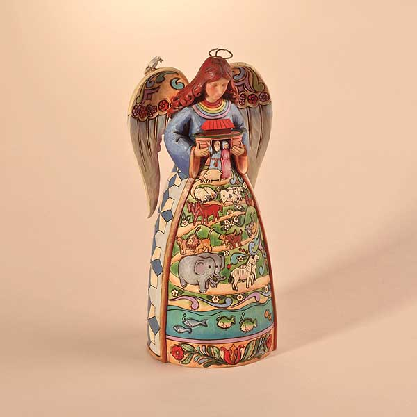 noahs ark angel 1 - Christmas Angel Figurines