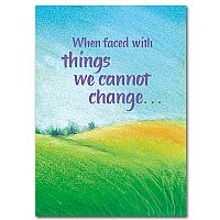 When Faced with Things We Cannot Change
