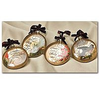 Glass Disc Ornament Set
