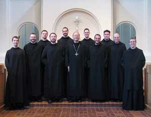 Monks of Conception Abbey who celebrated their Religious Profession Anniversary on August 15.